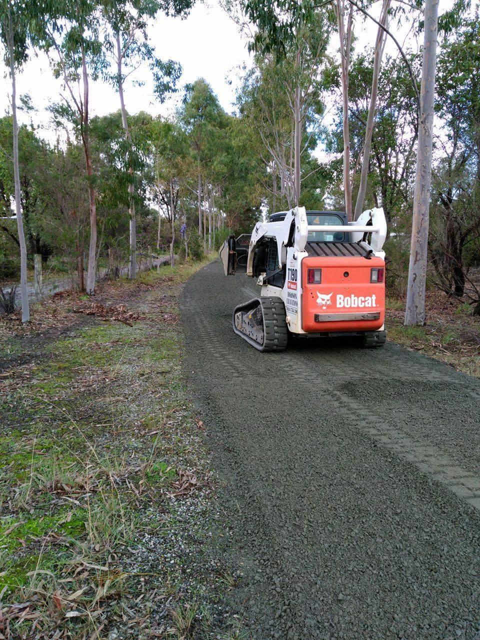 Driveway Construction using a Bobcat