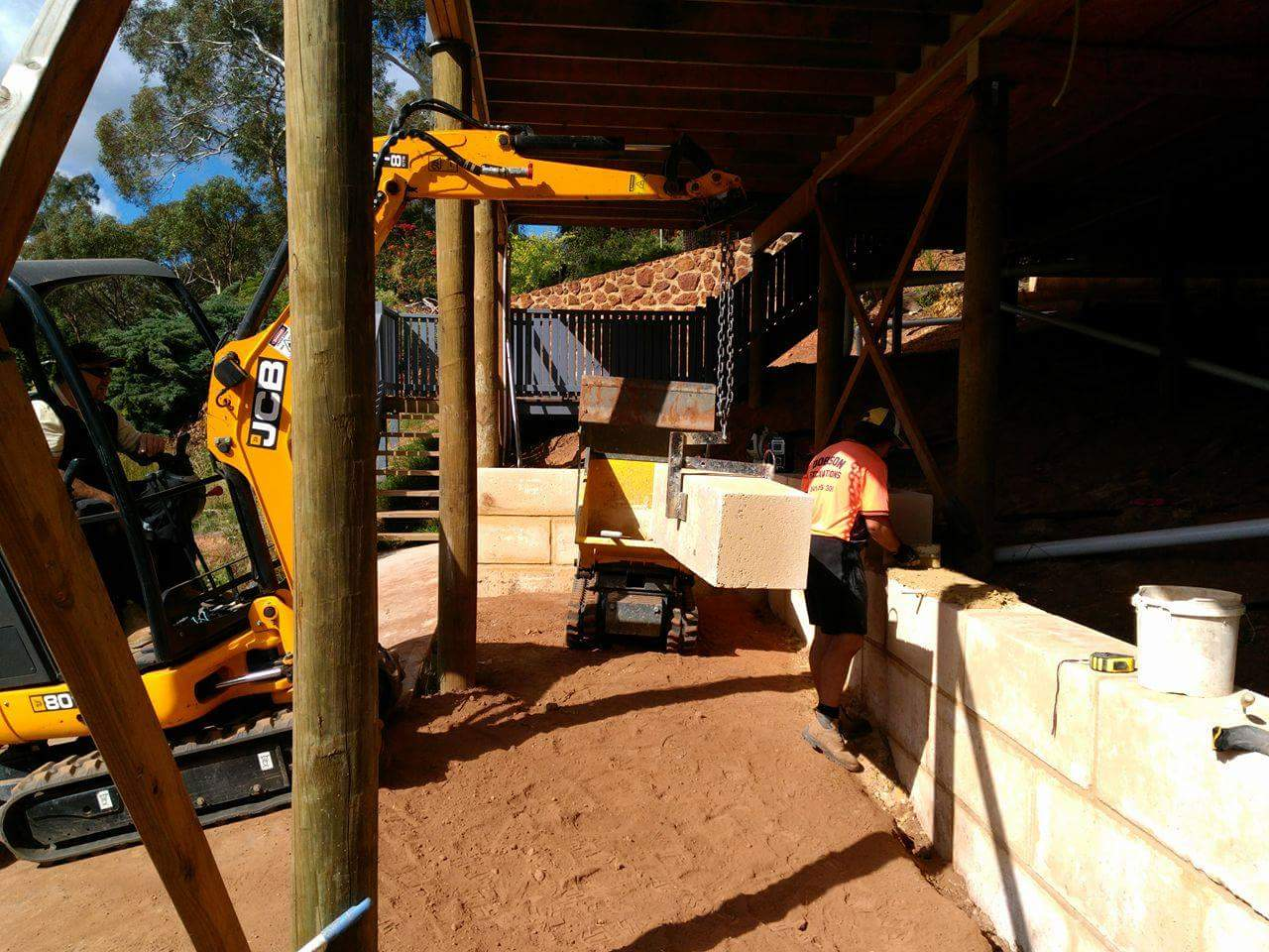 Limestone Retaining walls for sloping blocks