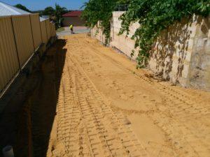 Subdividing Block Limestone Driveway