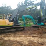 Dobson Excavations Rock Hammer Rock Machinery for Pool Installation and Set-up