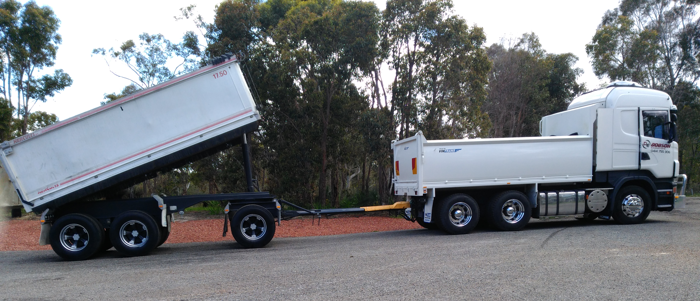 PERTH EARTHMOVING AND EXCAVATIONS CONTRACTORS DOBSON EXCAVATIONS TRUCK AND DOG