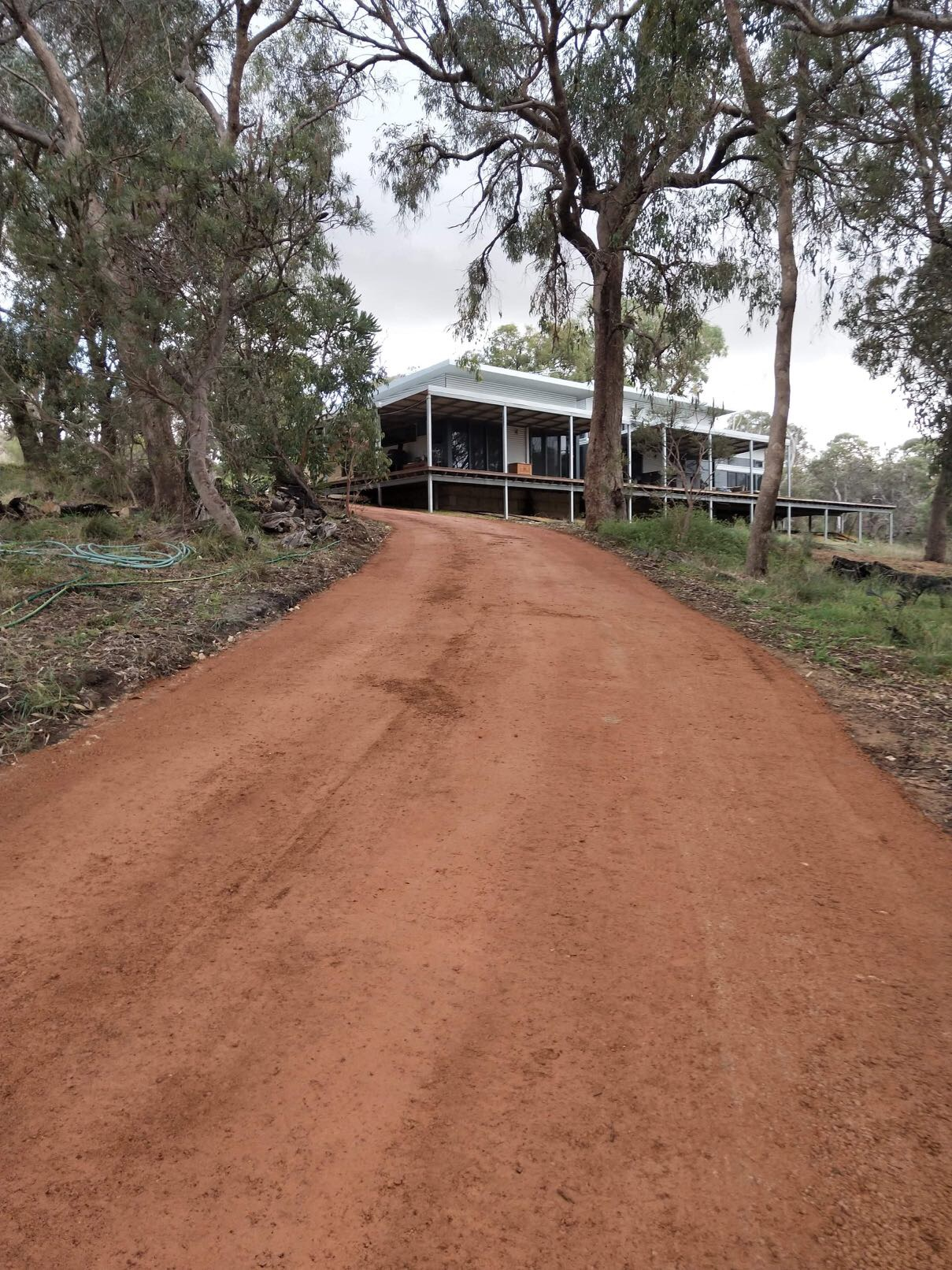 Driveway-Construction-in-Red Gravel