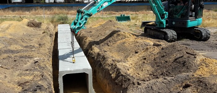 Dobson Excavations Earthmoving and Excavation Services Leach Drains Set-up
