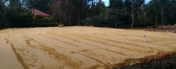 Dobson Excavations Excavation and Earthmoving Gallery - Sand Pad Set-up and Construction