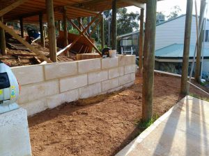 Dobson Excavations Limestone Retaining Wall Construction