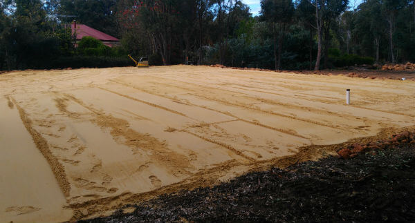 Dobson Excavations Sand Pad Construction and Set-up