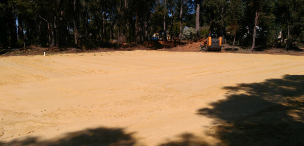 Dobson Excavations Sand Pads Installation and Set-up for House, Sheds, and Water Tanks - House Pad