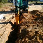 Dobson Excavations Truck Bobcat and Excavator Hammer Hire for Rock Hammering