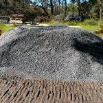 Blue Gravel for Construction of Driveways