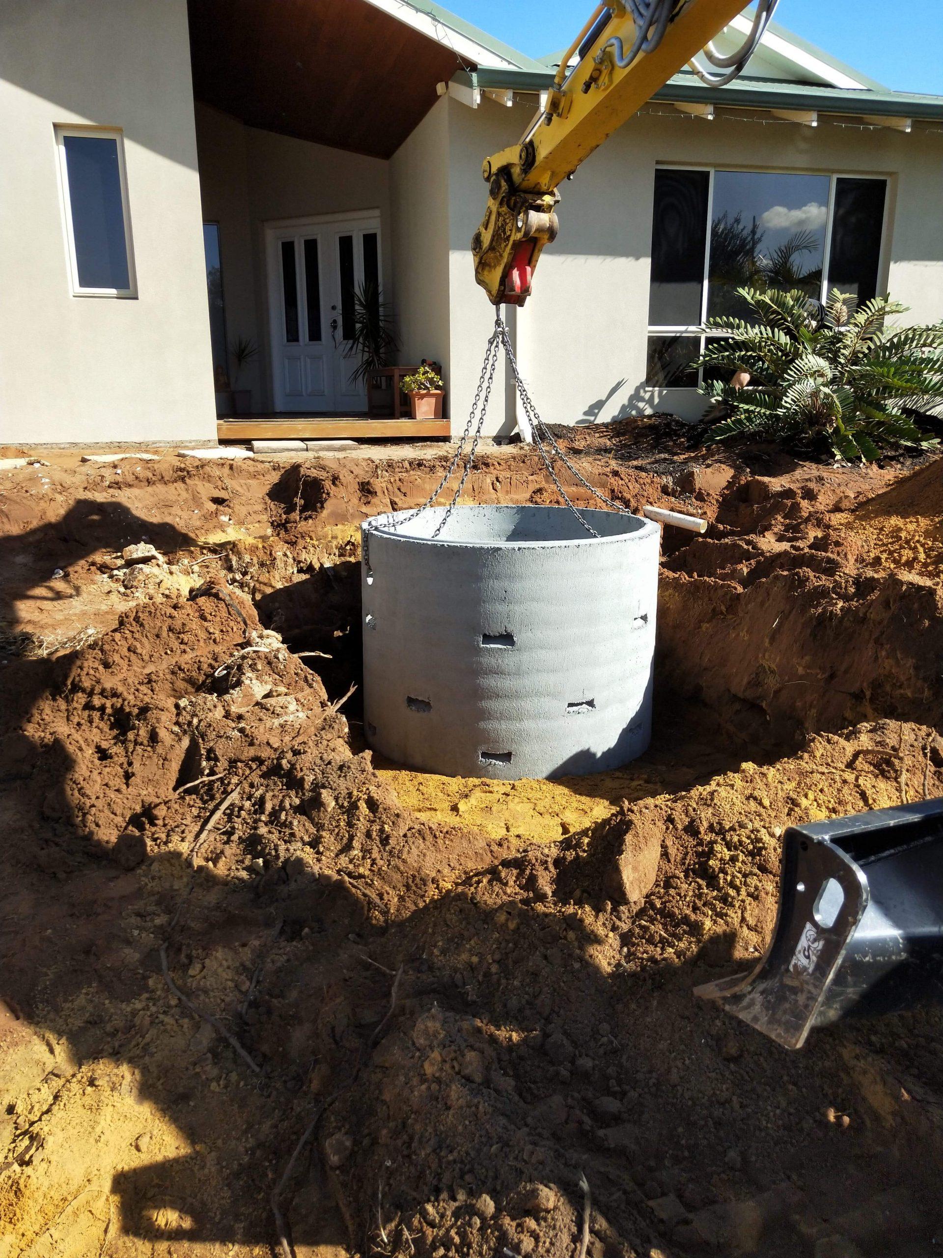 Soak Well-Tank-Installation